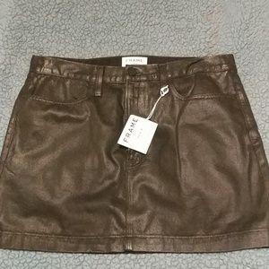 NWT Frame Denim Black Skirt Size 30